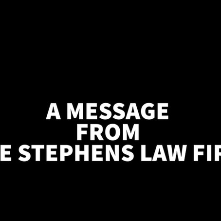 The Stephens Law Firm is here for you