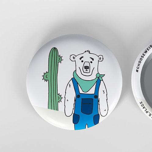 """Polar Bear 1.5"""" Button"""