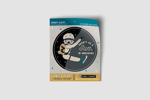 Sporty Sloth Sticker