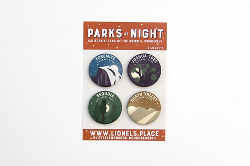 CA Parks at Night Magnet Pack