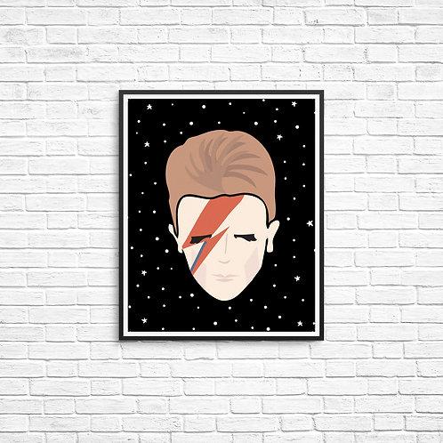 Bowie 8x10 Print