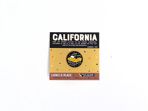 California Enamel Pin