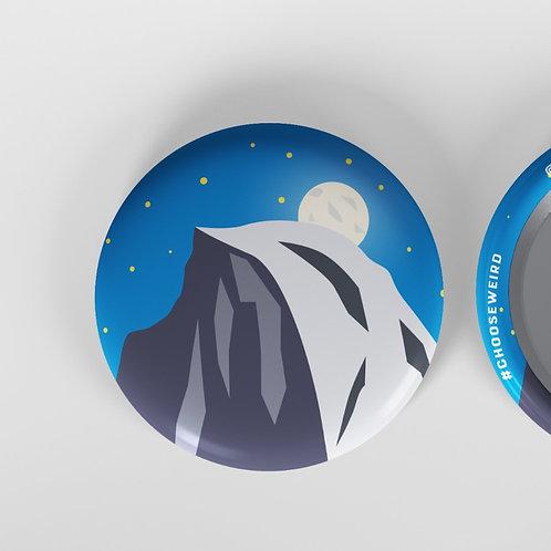 """Half Dome 1.5"""" Button"""