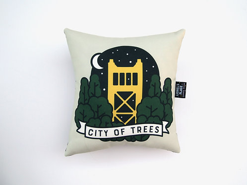 copy of Handmade City of Trees Pillow