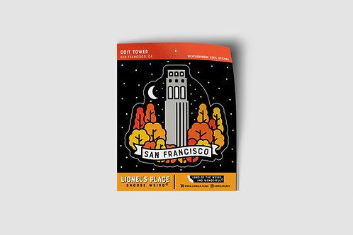 Coit Tower SF Sticker