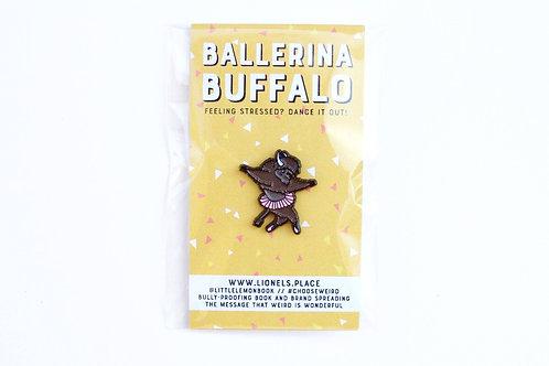 Ballerina Buffalo Enamel Pin