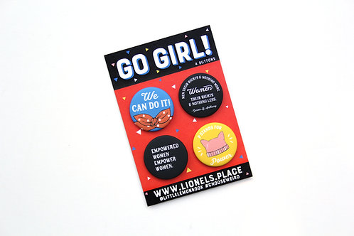 Go Girl! Button Pack