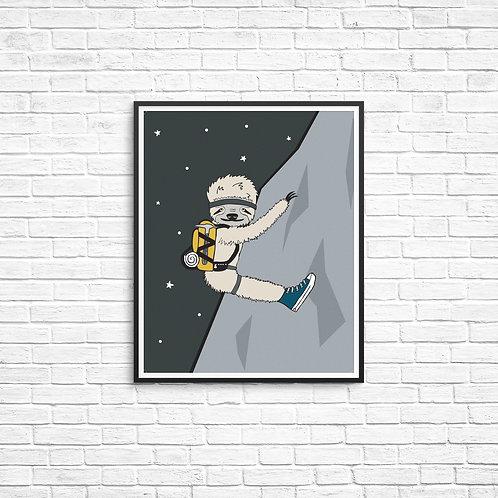 Sporty Sloth 8x10 Print