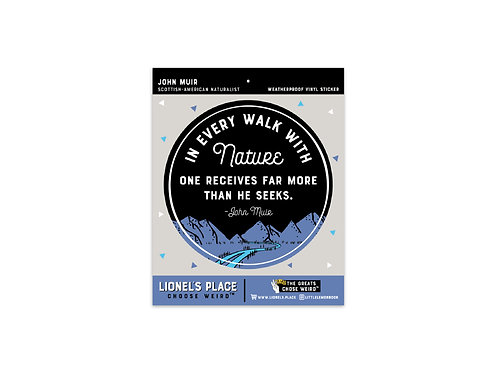 Walk with Nature Sticker