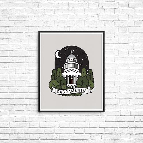 Sacramento Capitol Print