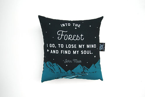 Handmade Into the Forest Pillow