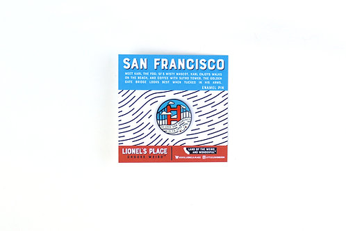 Karl the Fog SF Enamel Pin