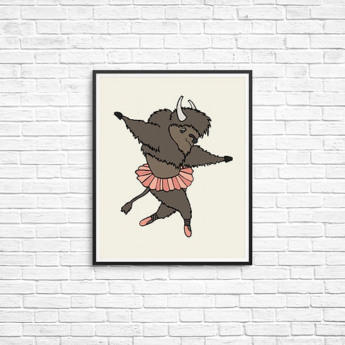 Ballerina Buffalo 8x10 Print