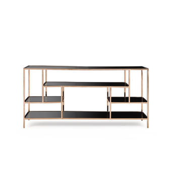 Miro Display Console Table Brass Front
