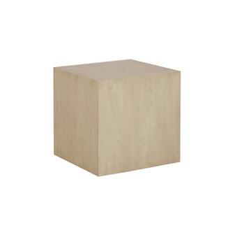 Morgan Square Side Table Oak Angle