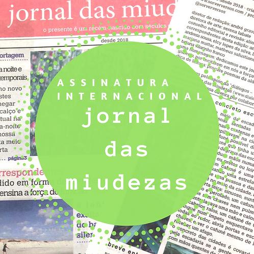 ASSINATURA INTERN. JORNAL DAS MIUDEZAS 2021