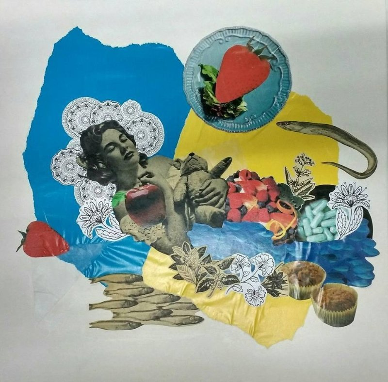 Collage sobre papel