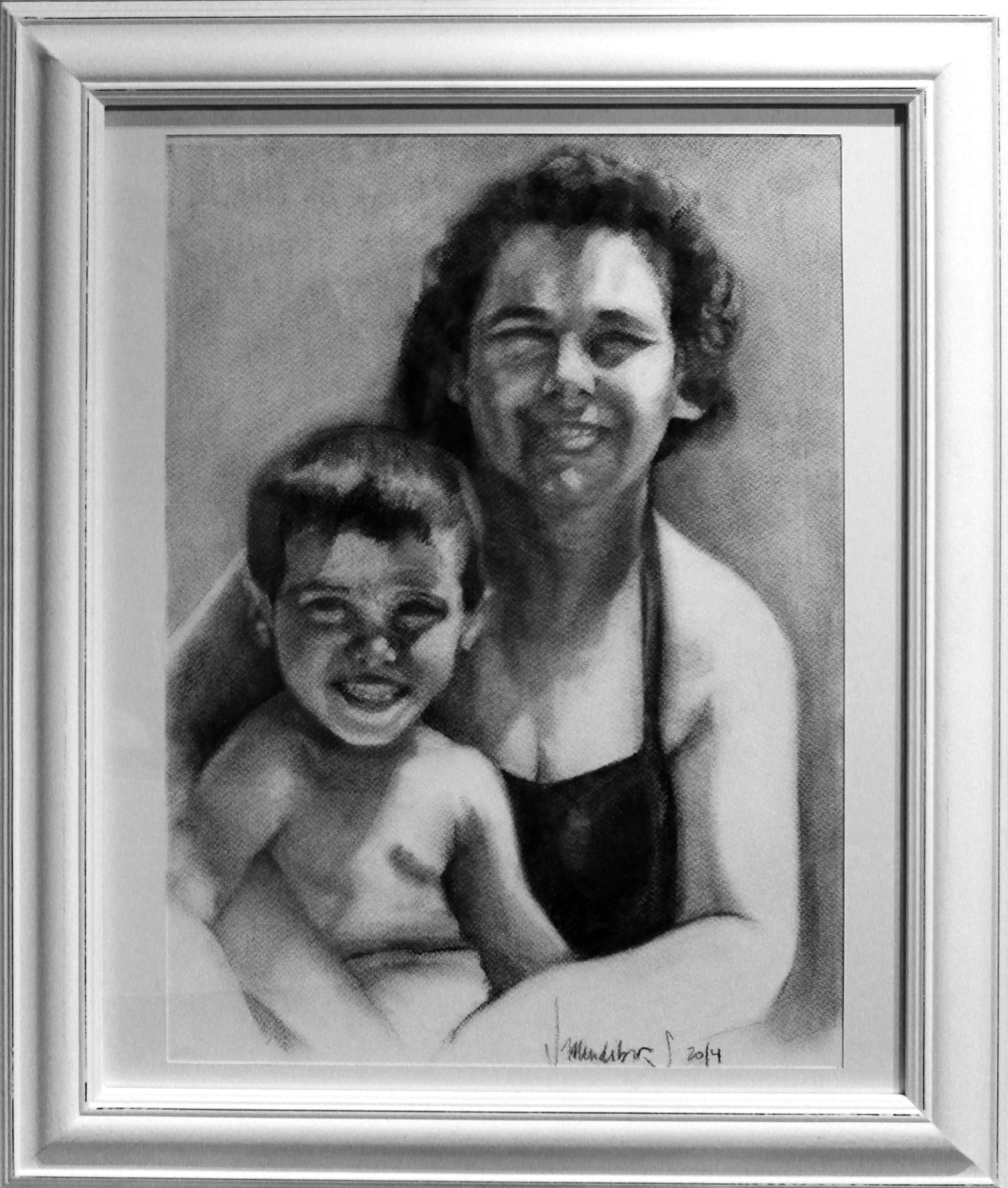 Dibujo Abuela y Padre