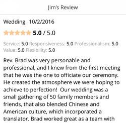 Rev Brad was very personable