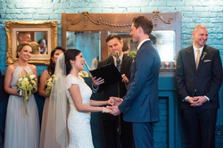 Brad Hughes Officiating blue wedding