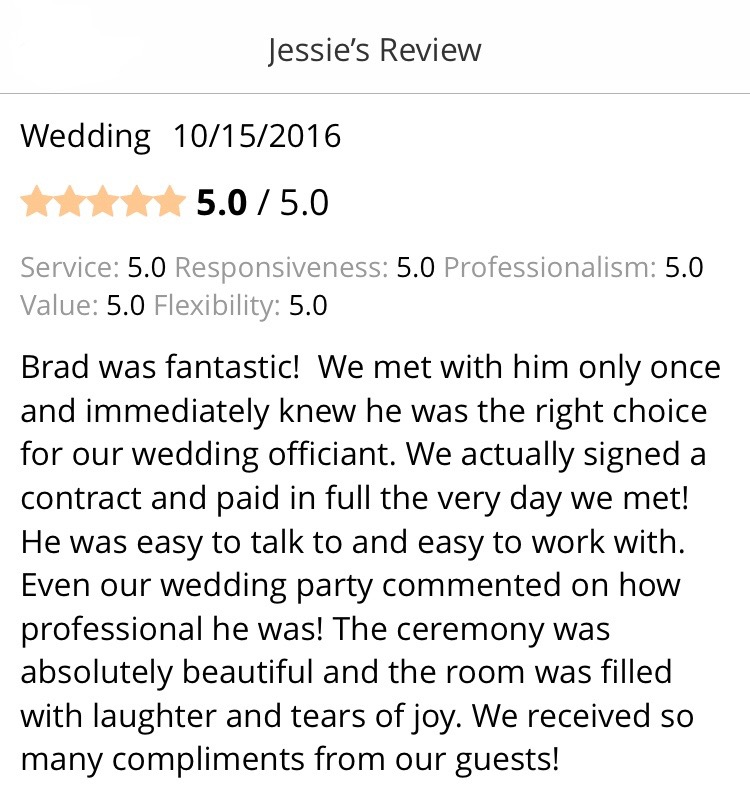 Chicago Wedding Officiant Review