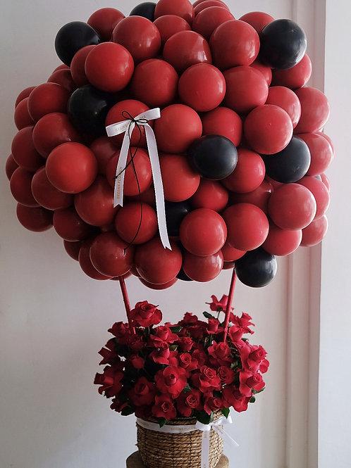 Hot Air ballon W/Roses