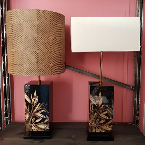 pair of mid century lamp bases
