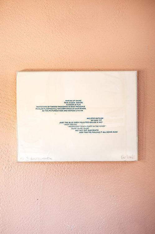 perspex box framed art
