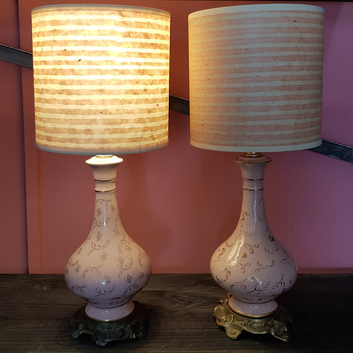 pair of 1930's ceramic lamps*
