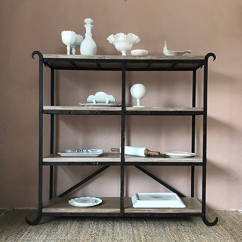 iron shelving rack