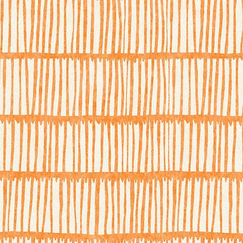 crochet wallpaper in apricot by Raoul Dufy