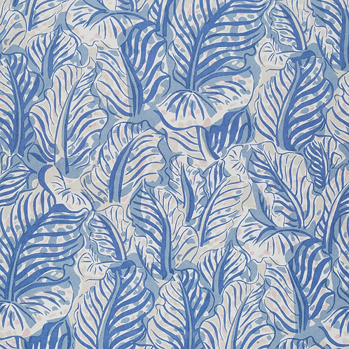 mille feuille wallpaper in cobalt by Raoul Dufy