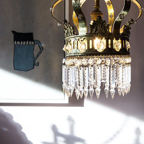 gilded crown chandelier