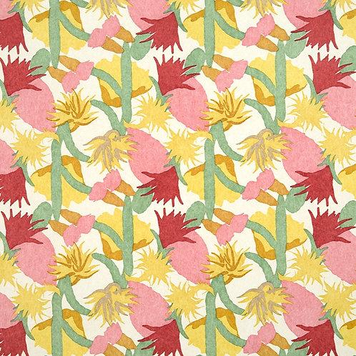 cactus flower wallpaper in fuchsia by Commune