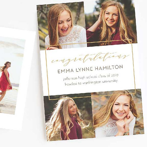 NEW! Foil Bifold Graduation Invitations & Announcements