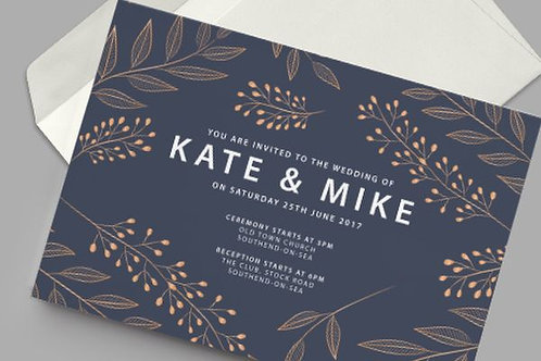 Wedding Post Card Invitations