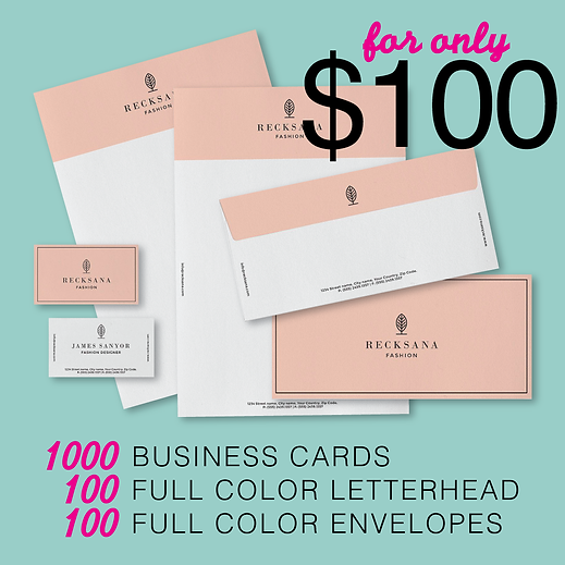 $100 Business Startup Package