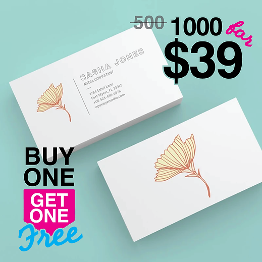 1000 Business Cards for $39