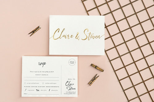 RSVP Cards with Foil