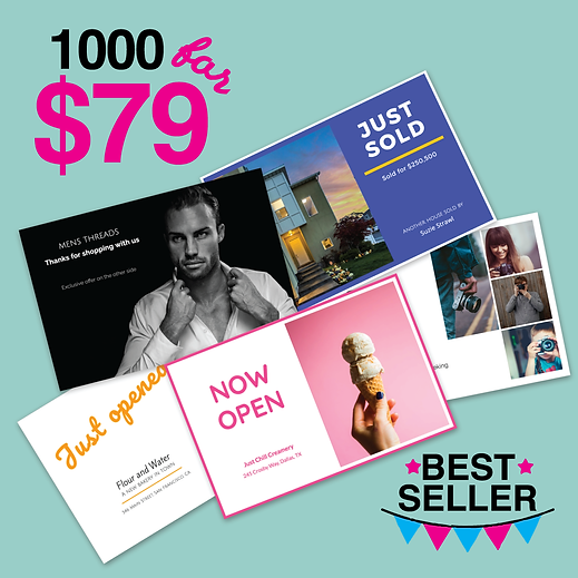 1000 Postcards for $79