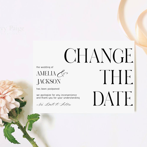 Change the Date Post Card Invitations