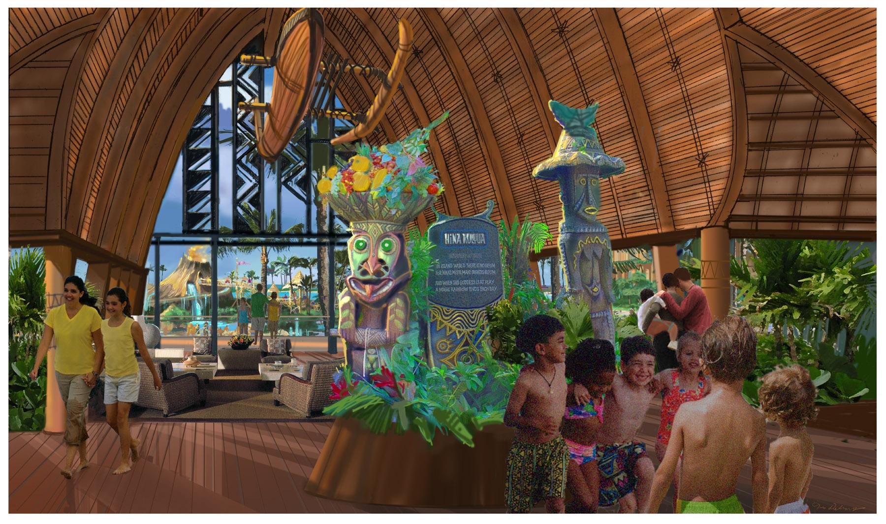 Disney's Aulani Resort Lobby Concept