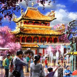 Kung fu Park, Tianjin, China