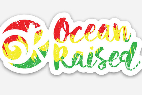 Ocean Raised Rasta Sticker