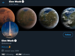 Bitcoin rises above 38000$ after Elon Musk adds to Twitter Profile