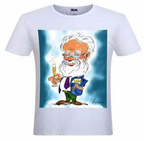 Karikatuur op T-shirt