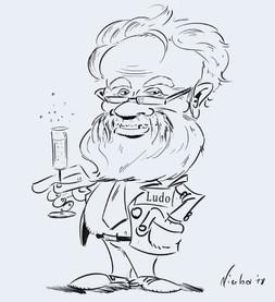Karikatuur Ludo tekening
