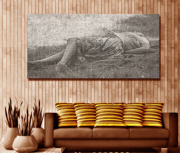 'Laying' On Canvas