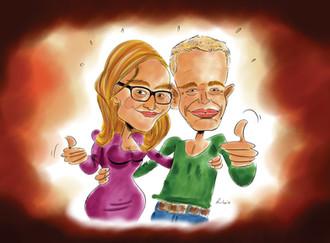 Karikatuur Voor Suzy