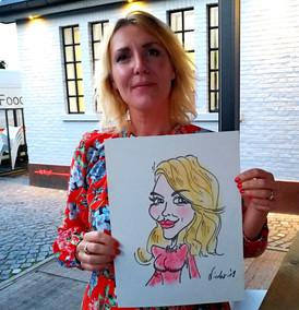 Live karikatuurtekenen tijdens Kick off Roularta